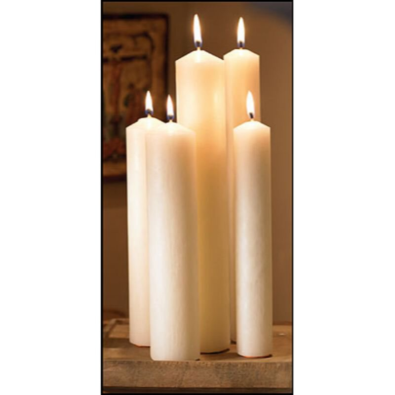 "16"" Large Diameter Plain End Altar Brand® Candle"