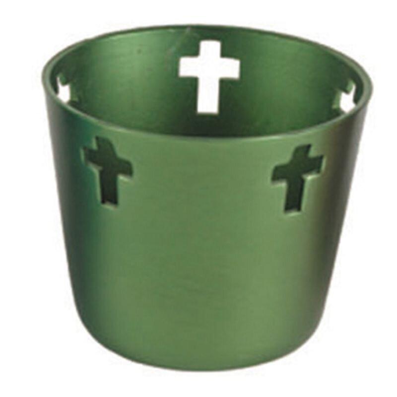 10 Hr Anodized Aluminum Votive Holders - Green