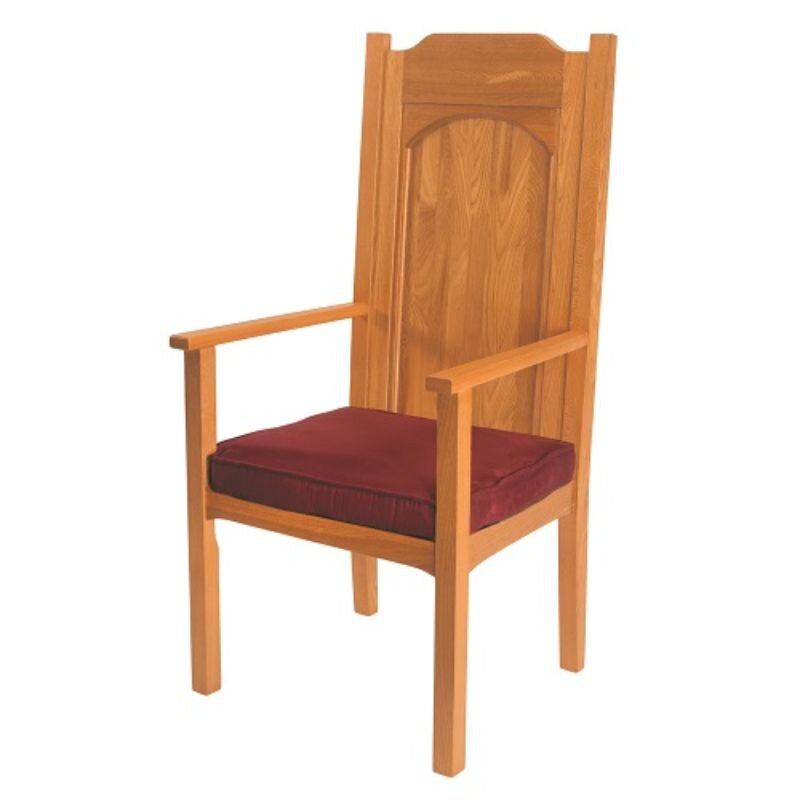 Abbey Collection Celebrant Chair - Medium Oak Stain