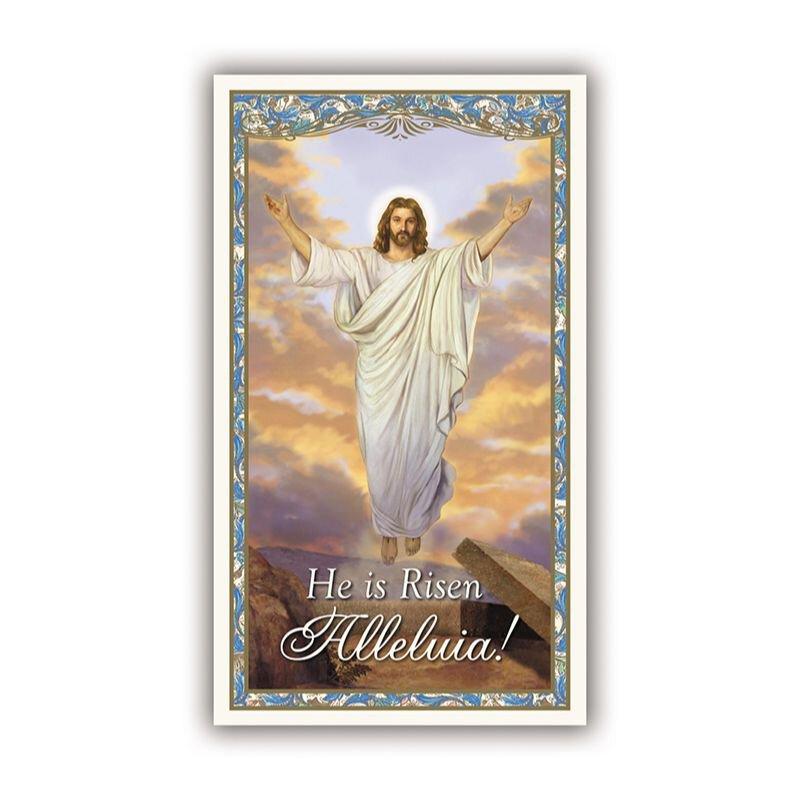 Risen Christ Easter Holy Card - 100/pk