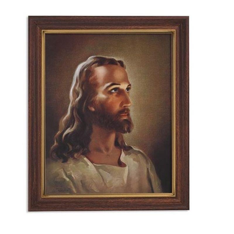 Sallman: Head of Christ Framed Print