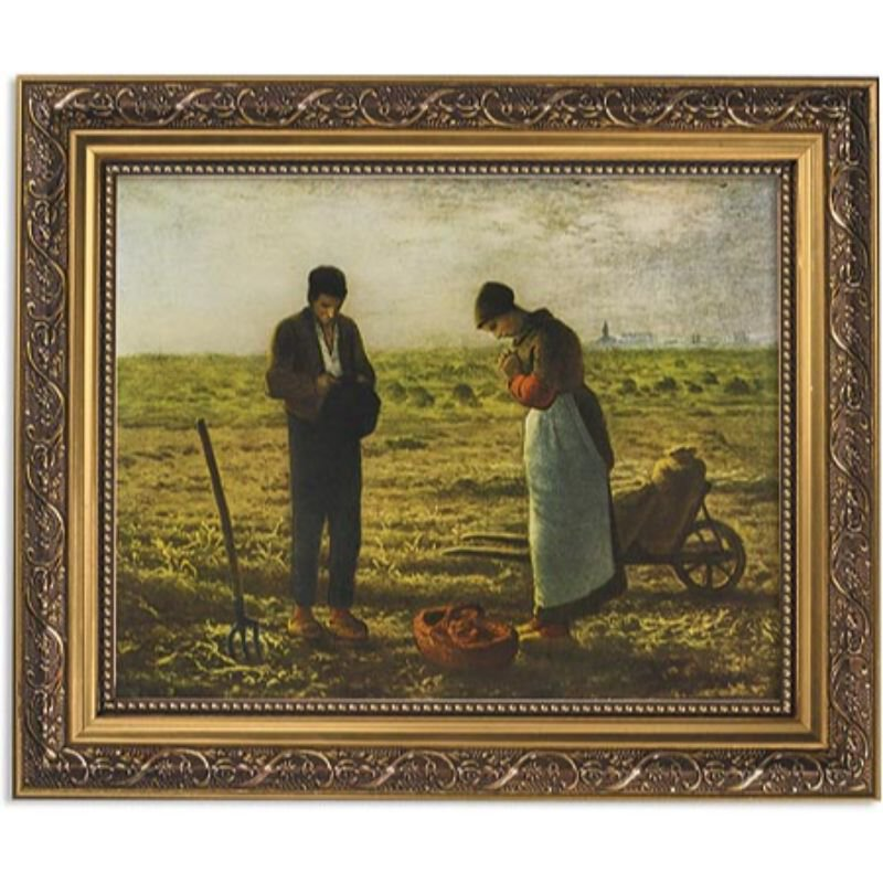 "Framed Print - 13"" Millet The Angelus"