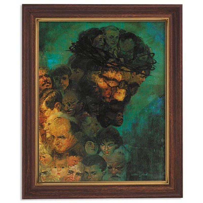 Zdinak: In His Image Framed Print - Wood Tone