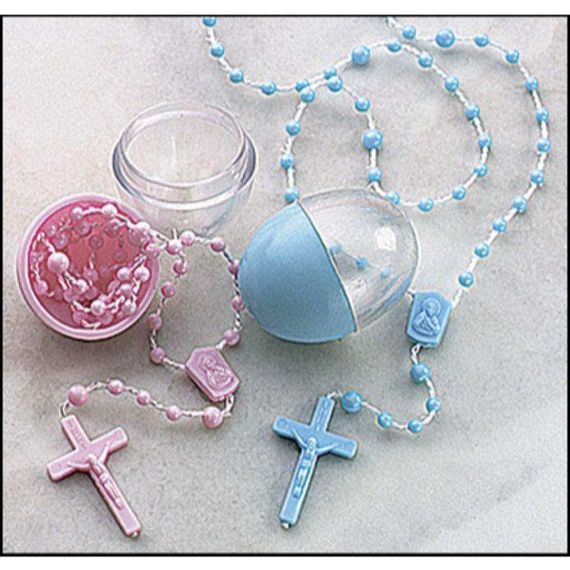 Cord Rosary in Egg Case Assortment - 36/pk