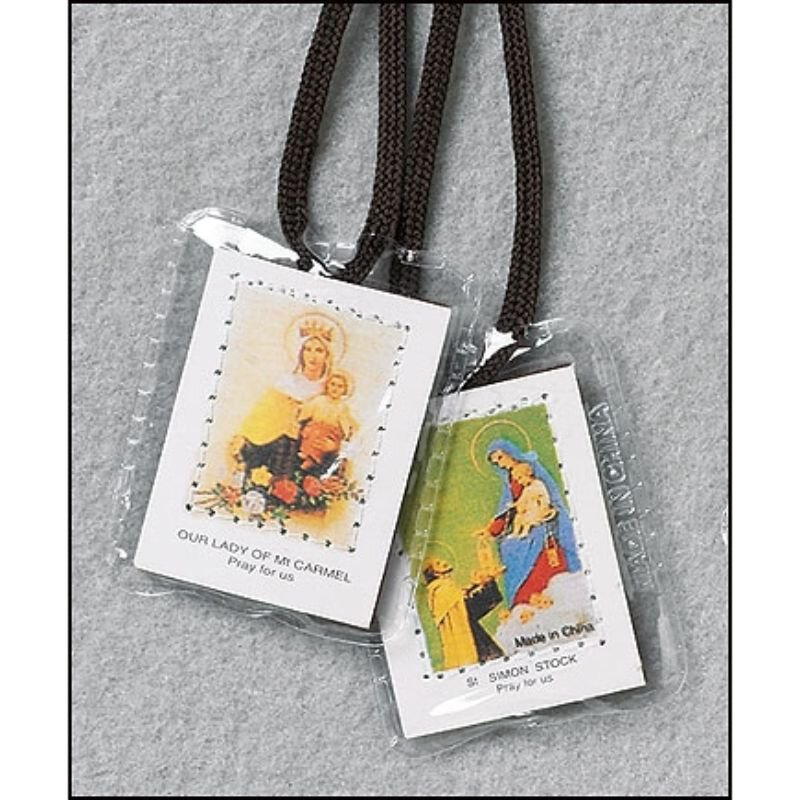 Brown Laminated Scapular - 50/pk