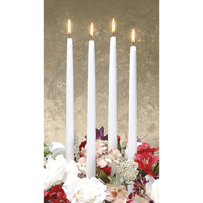 Environmentally Friendly Taper Candle - White