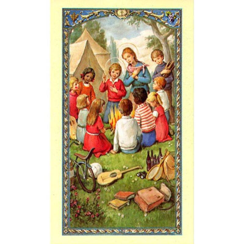 Family Vacation Laminated Holy Card - 25/pk