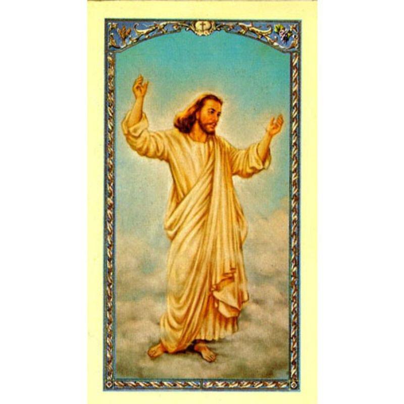 Resurrected Christ Laminated Holy Card - 25/pk