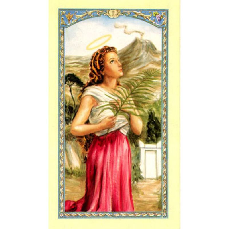 St. Agatha Laminated Holy Card - 25/pk