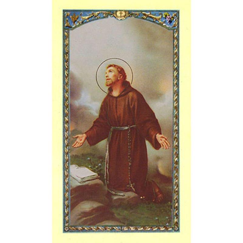 St. Francis Laminated Holy Card - 25/pk