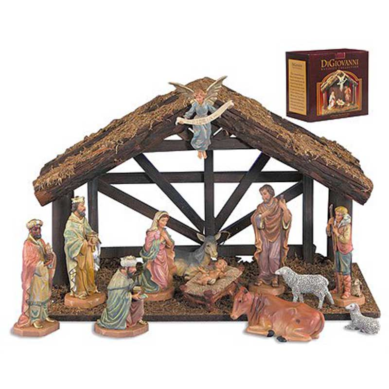12-pc Nativity Set with Stable