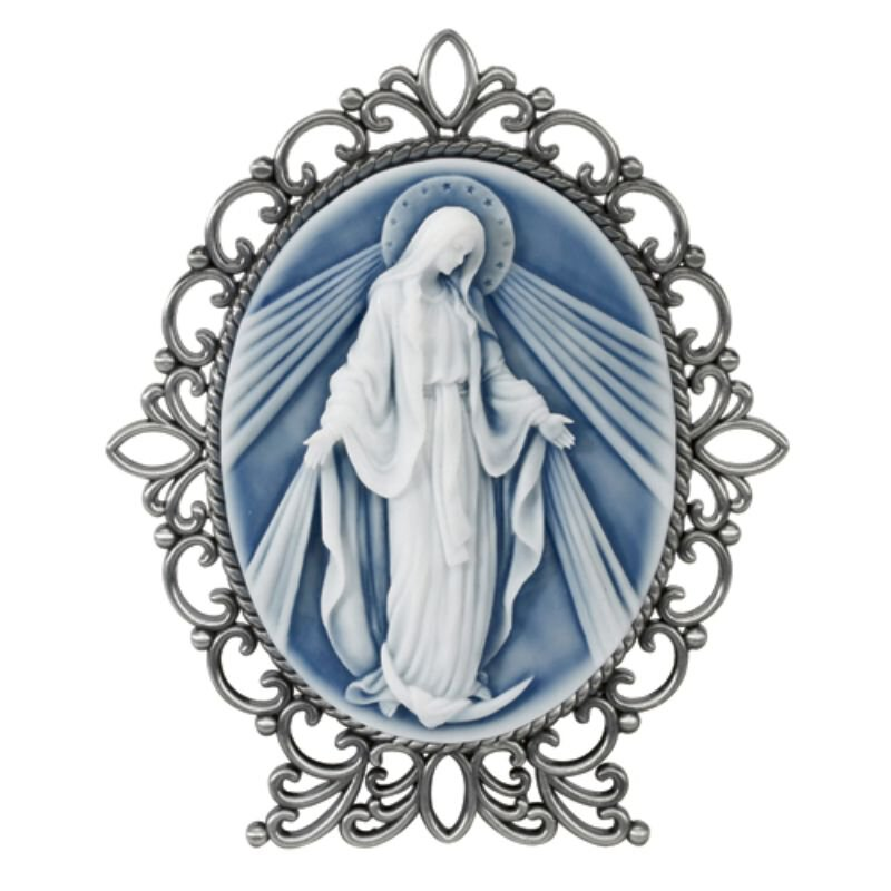 Our Lady of Grace Cameo Desk Stand