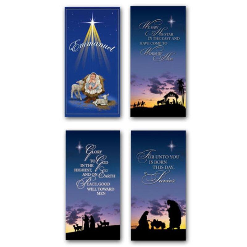 Christmas Banner Set of 4