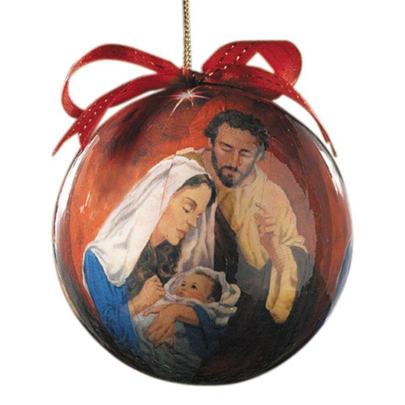Tidings of Great Joy Decoupage Ornament - 6/pk