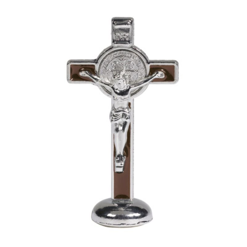 St. Benedict Crucifix Stand - Brown - 4/pk