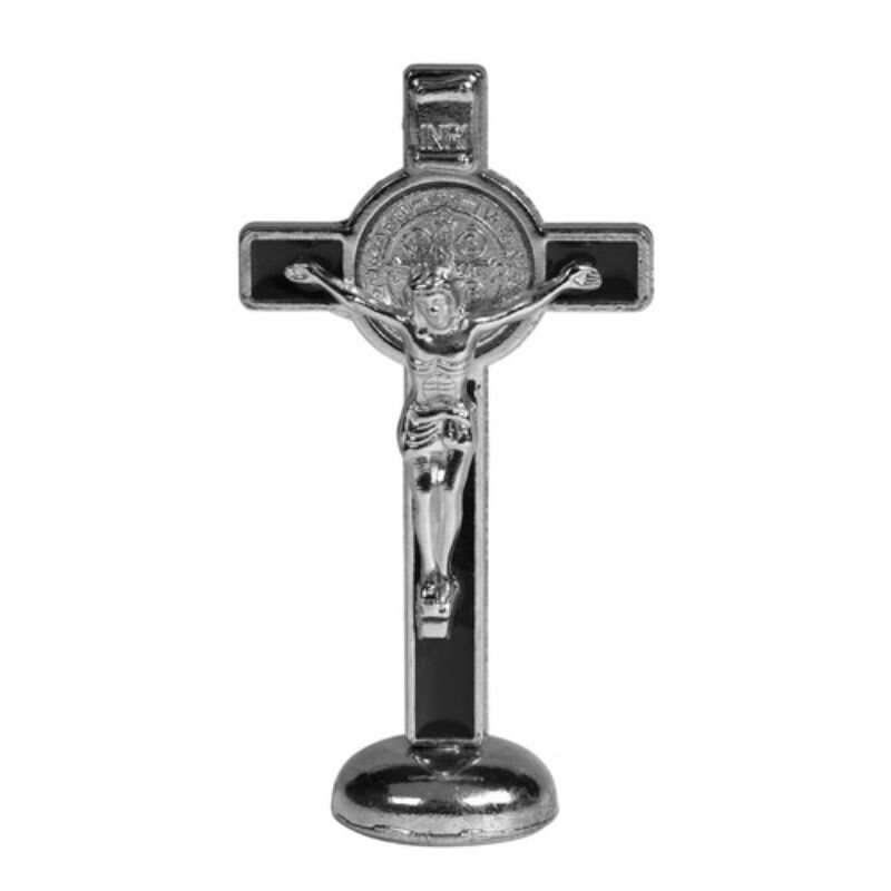 St. Benedict Crucifix Stand - Black - 4/pk