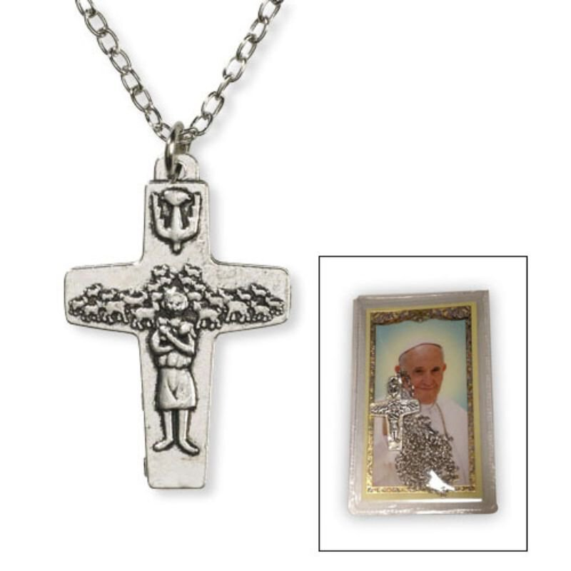 Pope Francis Pendant with Card - 6/pk
