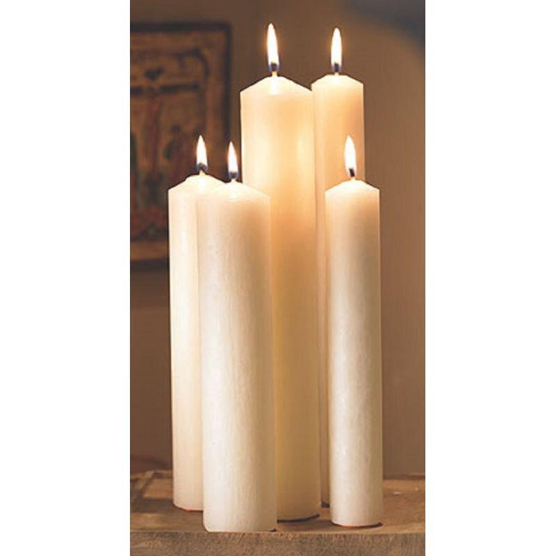 Altar Brand® Short 4 Plain End Candle - 24/PK
