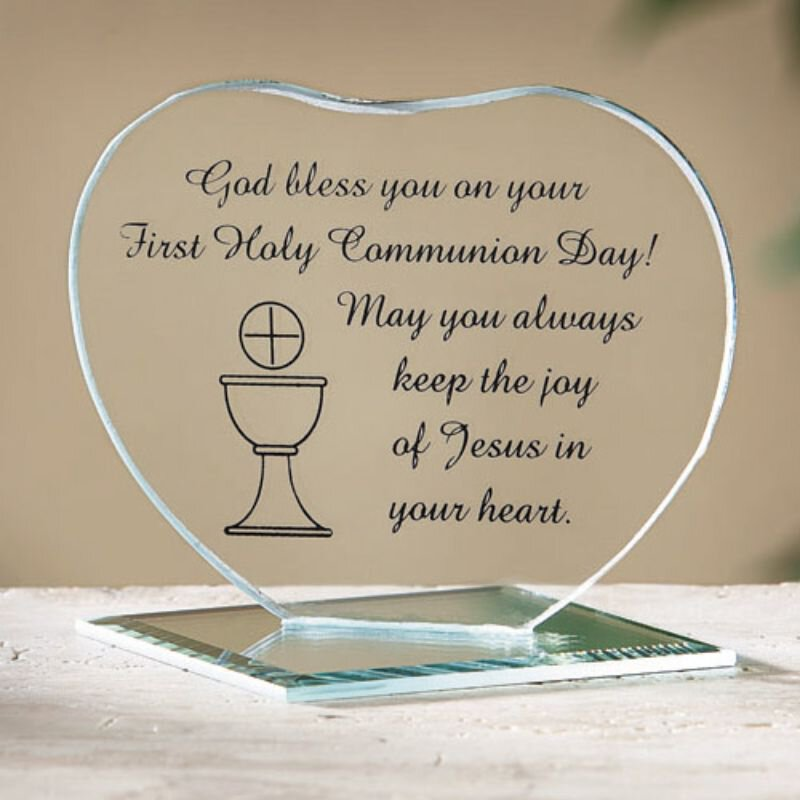 First Communion Heart Stand - 12/pk