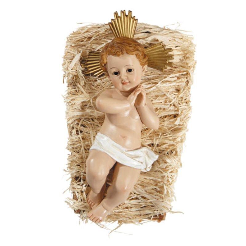 """7"""" Infant Jesus with Crib"""