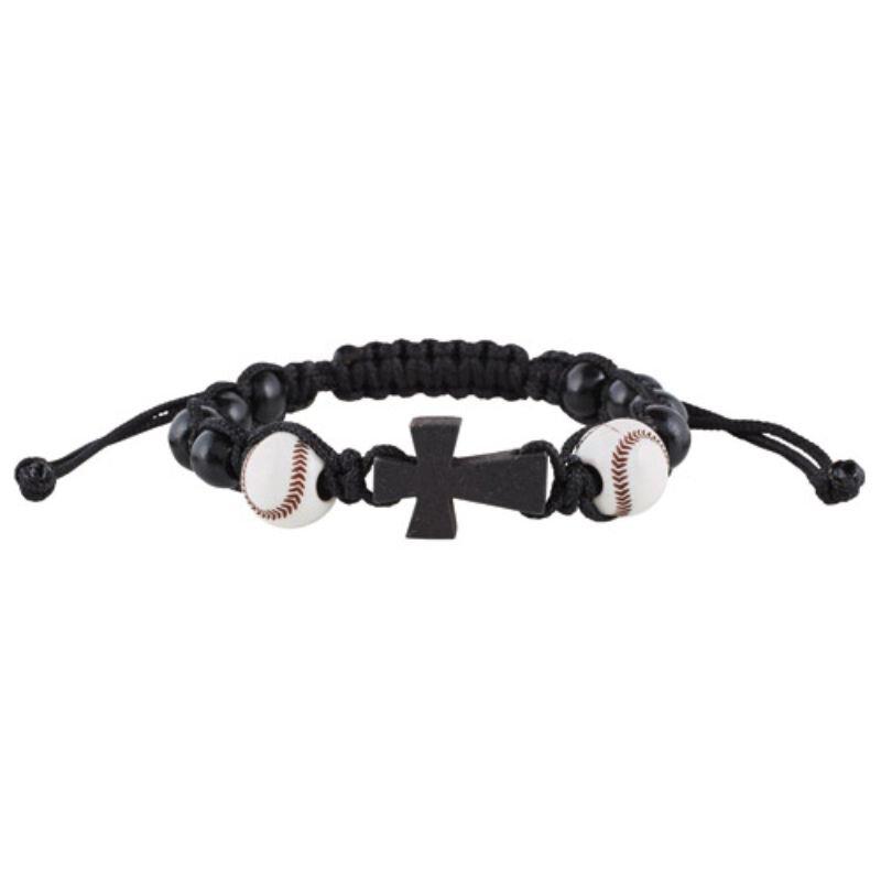 Baseball Sport Rosary Bracelet - 12/pk