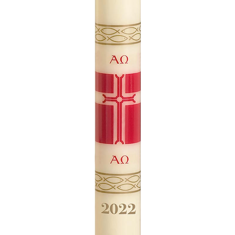 No 4 Alleluia Paschal Candle