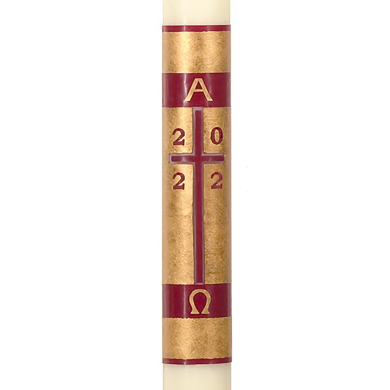 No 4 Redemption Paschal Candle