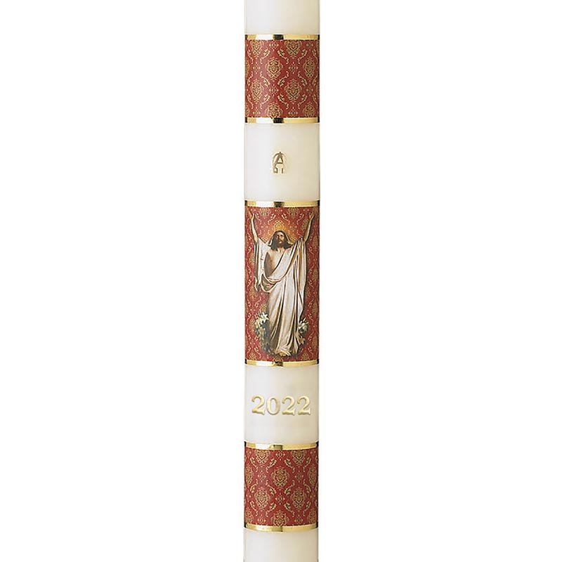 No 5 Risen Christ Paschal Candle