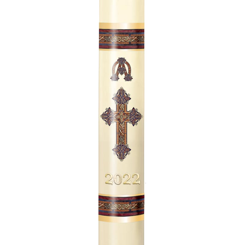 No 6 Kells Cross Paschal Candle