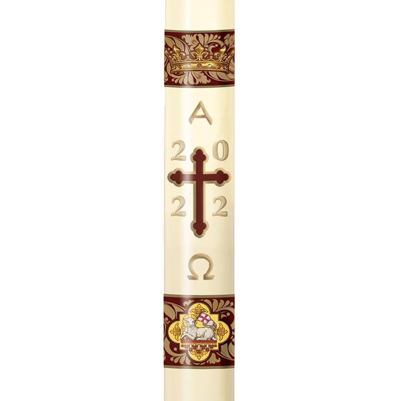 No 8 Agnus Dei Paschal Candle