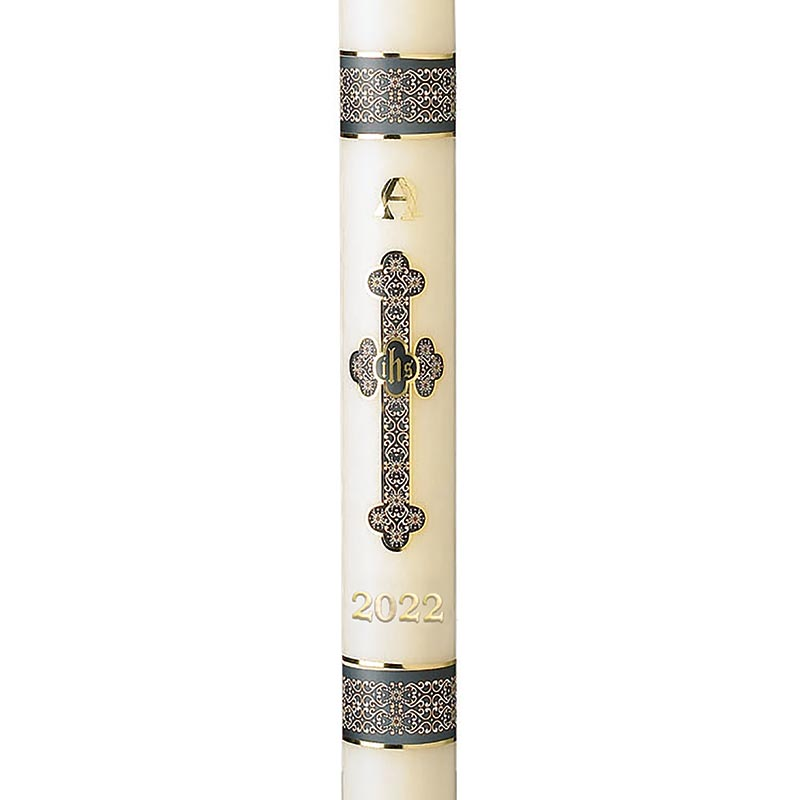 No 3 Special Budded Cross Paschal Candle