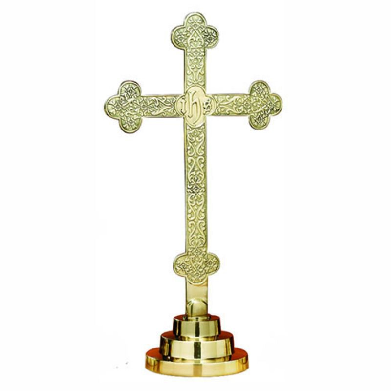 Budded Altar Cross with Filigree Design