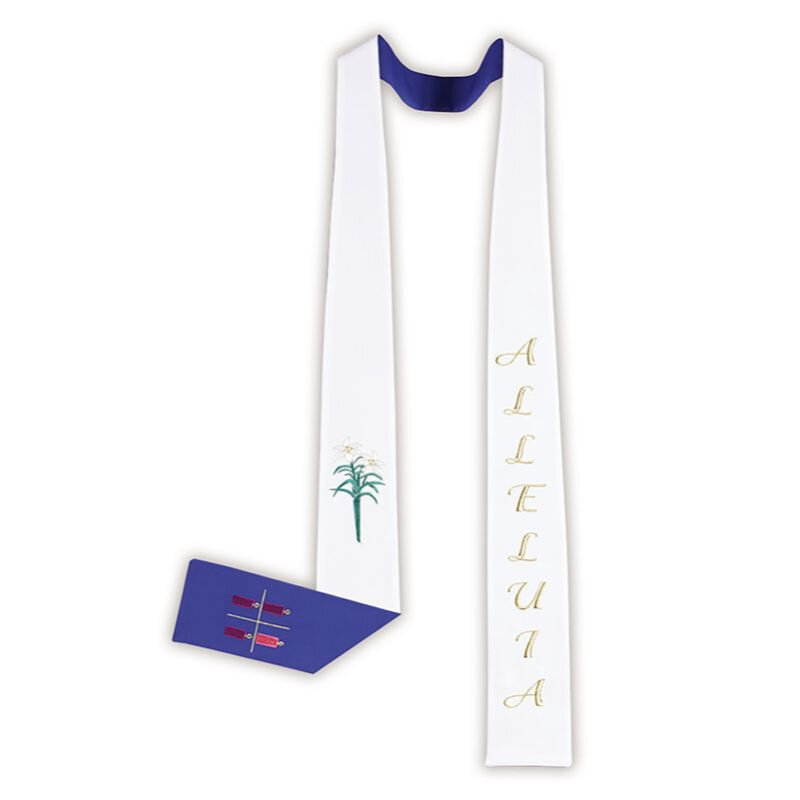 Reversible Holiday Stole