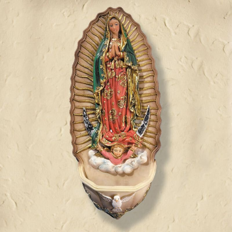 Our Lady of Guadalupe Holy Water Font - 4/pk