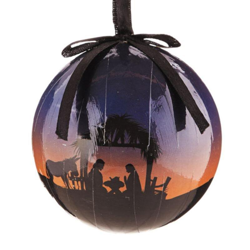 A Savior is Born Decoupage Ornament - 6/pk