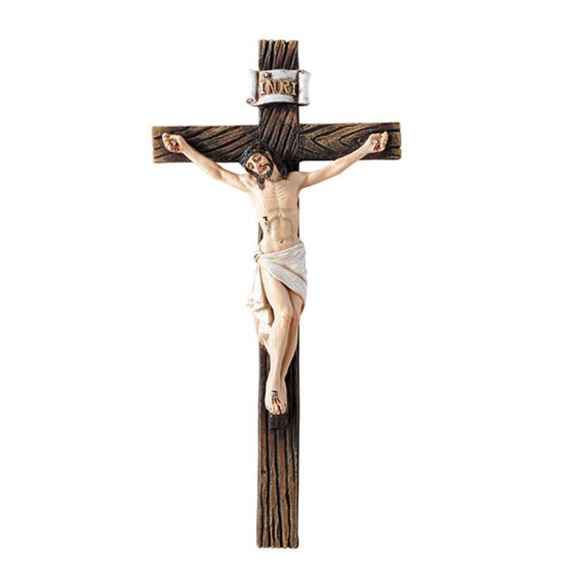 Traditional Wall Crucifix - 3/pk