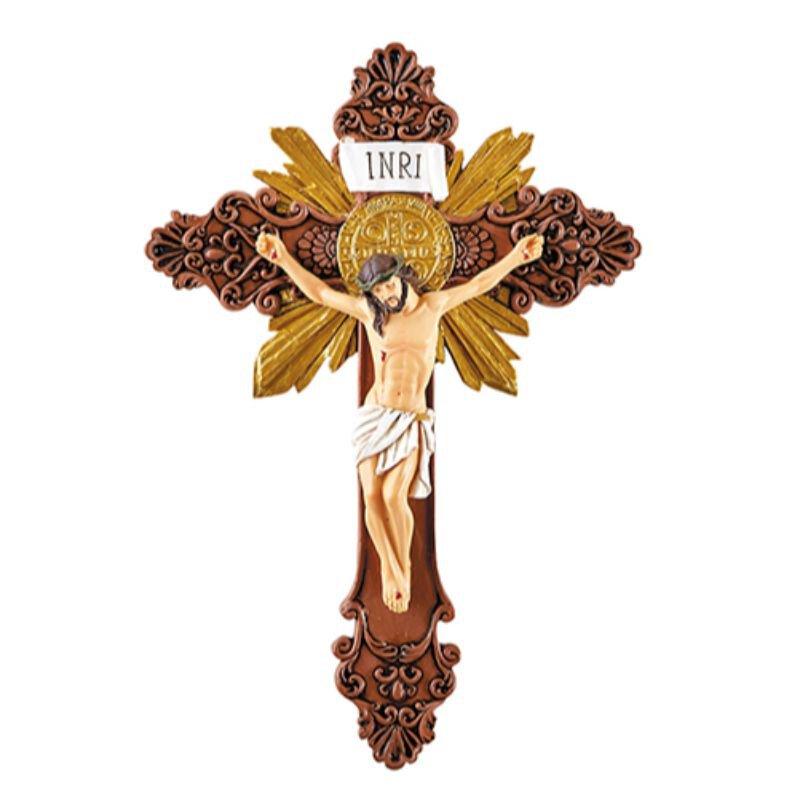 St. Benedict Ornate Wall Crucifix