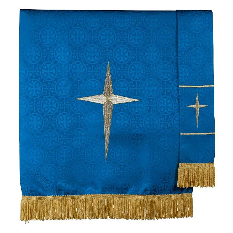 Maltese Jacquard Pulpit Scarf - Blue