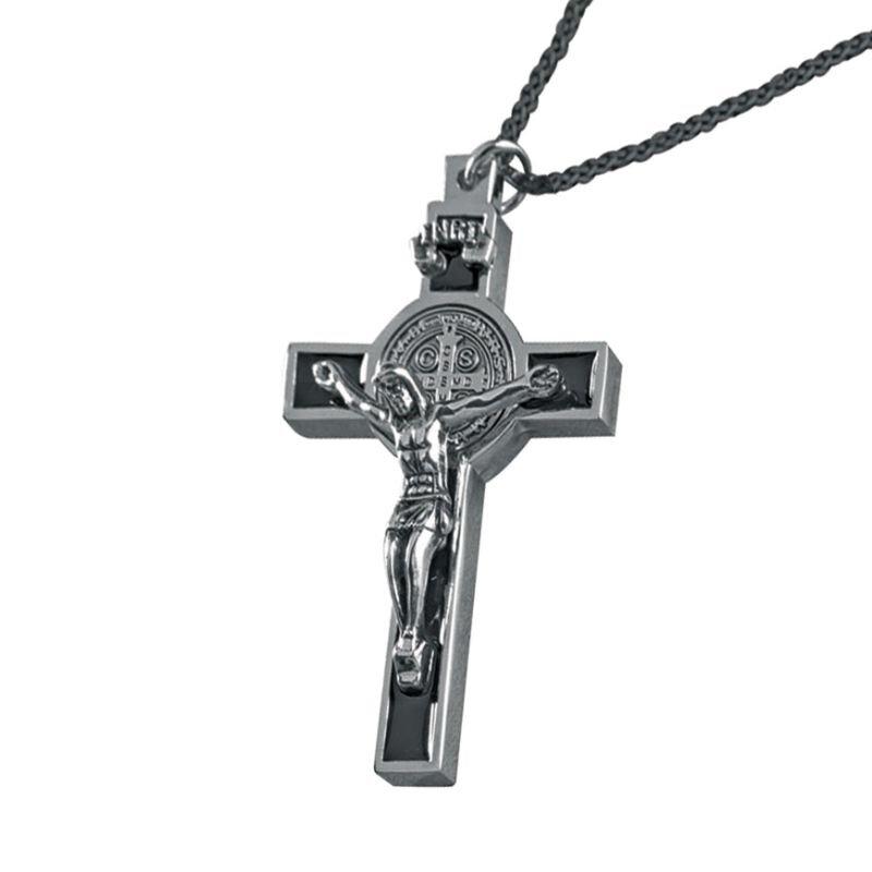 St. Benedict Crucifix Pendant - Black - 4/pk