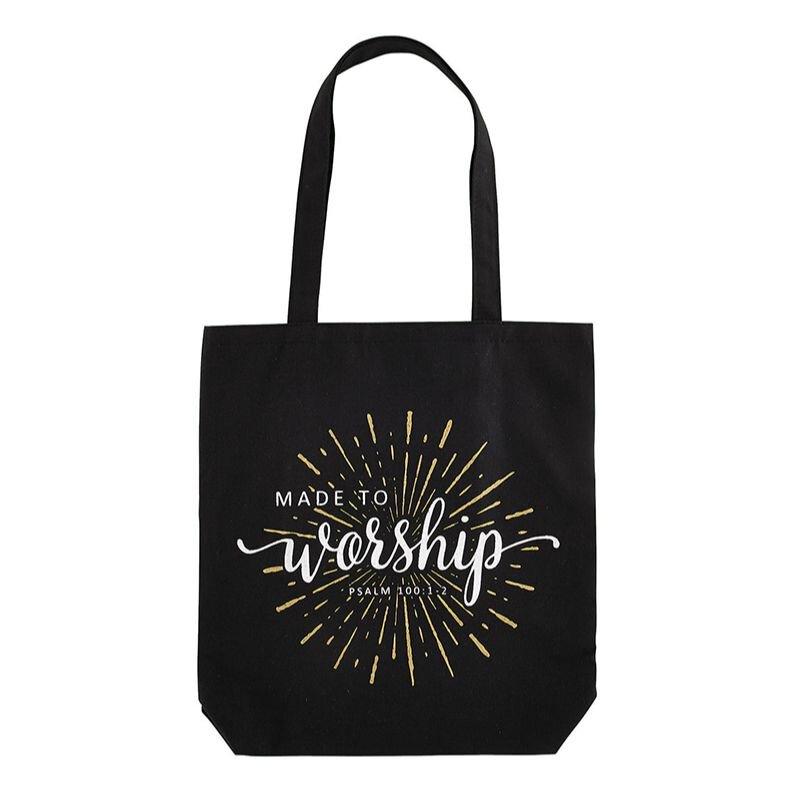 Made to Worship Canvas Tote Bag - 12/pk
