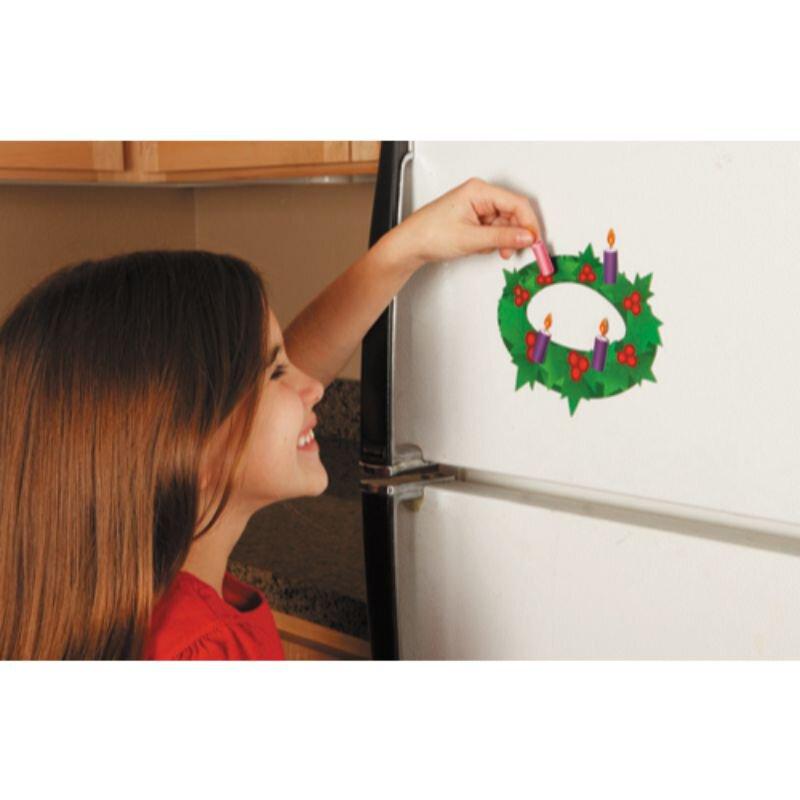 Advent Wreath Magnet Set - 12/pk
