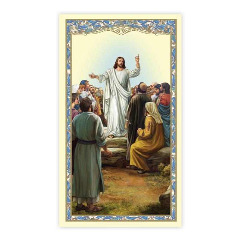 The Beatitudes Holy Card - 100/pk
