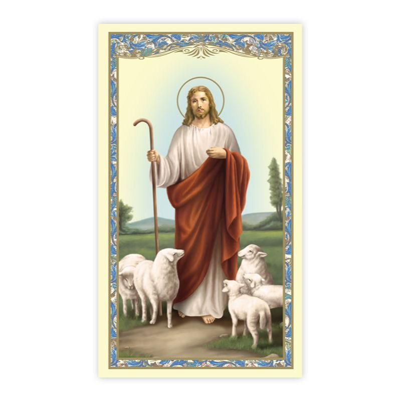 Good Shepherd (Psalm 23) Holy Card - 100/pk