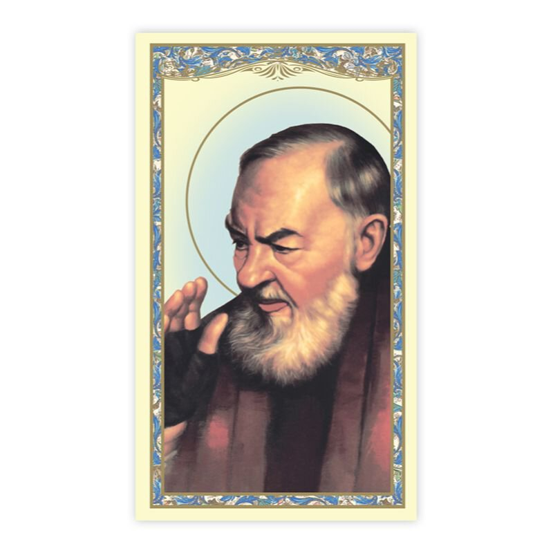 St. Pio Holy Card - 100/pk