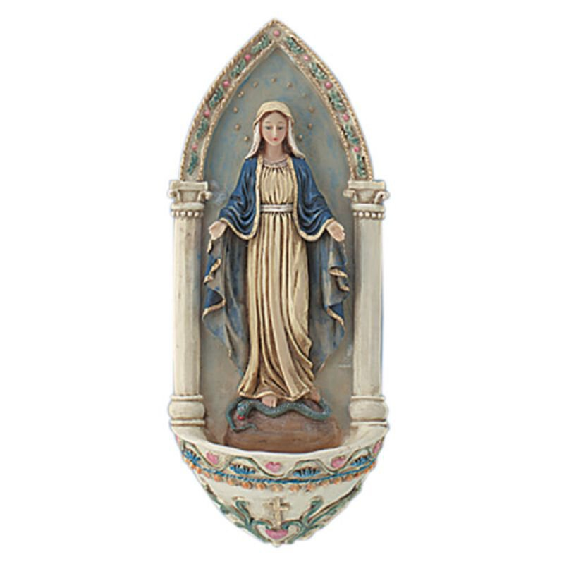Our Lady of Grace Holy Water Font - 4/pk