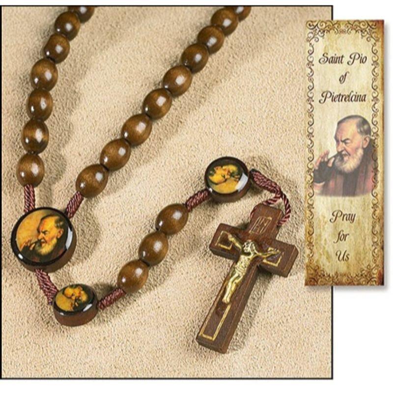 St. Pio Devotional Cord Rosary - 12/pk