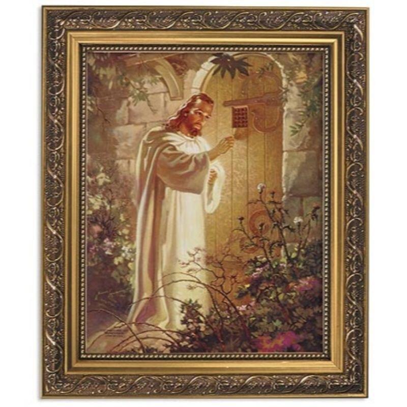 Sallman: Christ at Heart's Door Framed Print