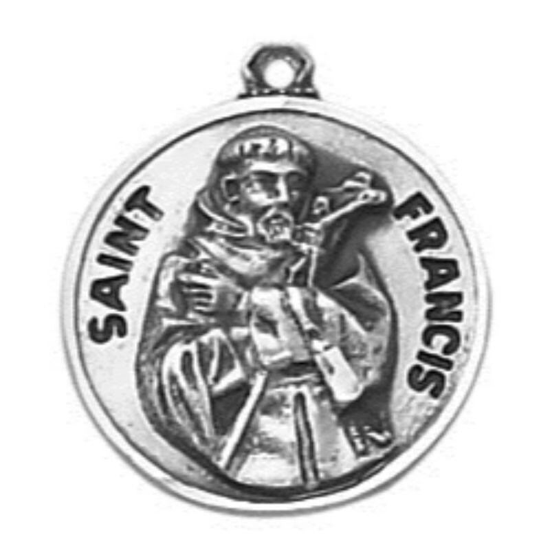 Creed® Sterling Patron Saint Francis  Medal