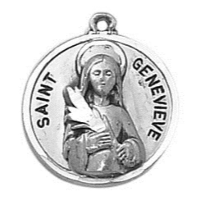 Creed® Sterling Patron Saint Genevieve Medal