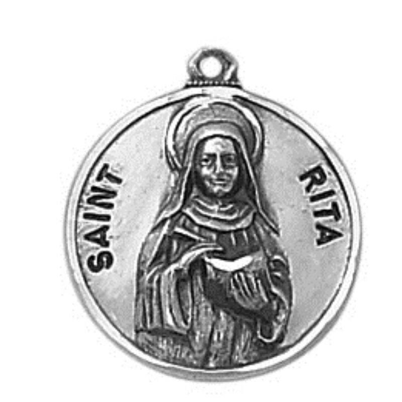 Creed® Sterling Patron Saint Rita Medal